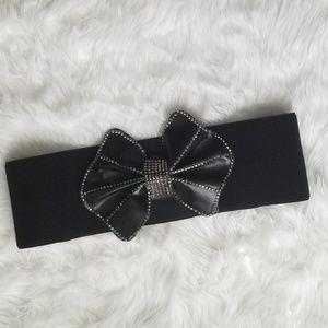 Accessories - Rhinestone bow belt